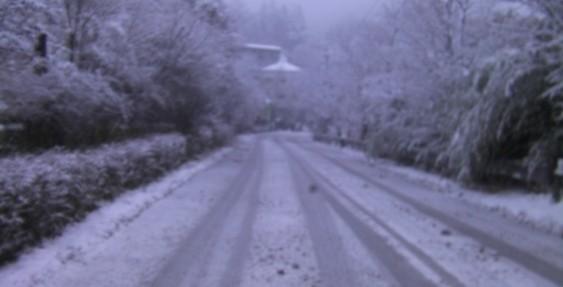 筋湯温泉、雪模様!!