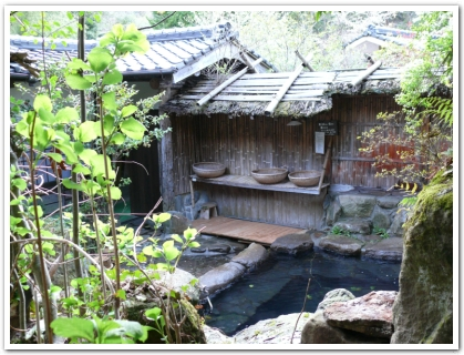 筋湯温泉の露天風呂(男湯)