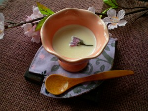 sakura milk pudding